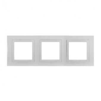 тройна рамка, бял, schneider, unica basic, mgu2.006.18