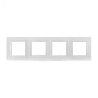 четворна рамка, бял, schneider, unica basic, mgu2.008.18