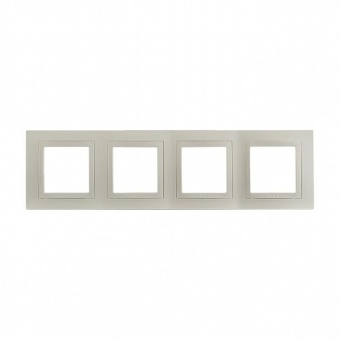 четворна рамка, слонова кост, schneider, unica basic, mgu2.008.25