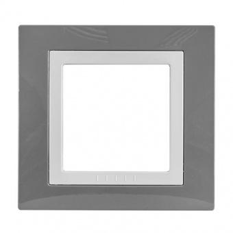 рамка, техническо сиво, schneider, unica basic, mgu2.002.858