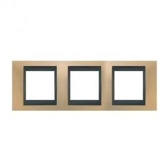 метална тройна рамка, оникс/графит, schneider, unica top, mgu66.006.296