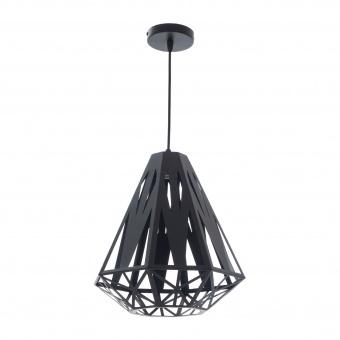 метален пендел, черен, elbulgaria, 1x40w, 1469/1m bk