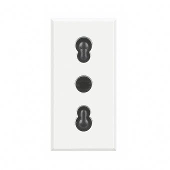 контакт италиански стандарт, 10/16a, white, bticino, axolute, hd4180