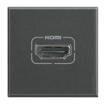 hdmi розетка, anthracite, bticino, axolute, hs4284