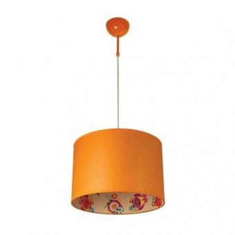 текстилен пендел, оранжев, siriuslights, сова плюс, 1x60w, 249814