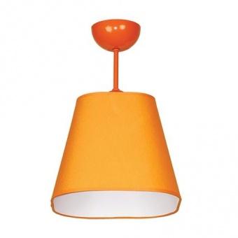 текстилен плафон, оранжев, siriuslights, шинц пирамида, 1x60w, 228841