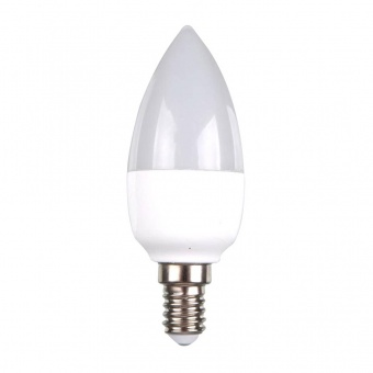 лед лампа 7w, e14, бяла светлина, candle bulb,  4000k, 750lm, 7319