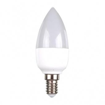 лед лампа 7w, e14, топла светлина, candle bulb, 2700k, 750lm, 7318