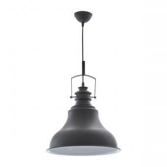 метален пендел, черен, elbulgaria, 1x40w, 1431/36 bk