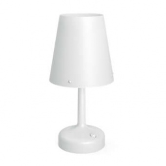 pvc настолна лампа, white, philips, battery, led 1x0,6w, 71796/31/p0