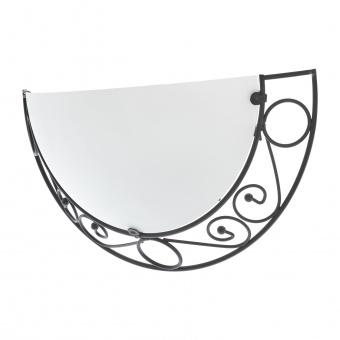 стъклен аплик, черен, elbulgaria, 1x40w, 1510/1w bk