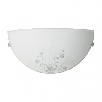 стъклен аплик, бял, siriuslights, цветя, 1x60w, 245171