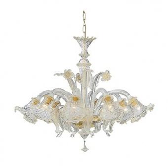 стъклен полилей, ambra, ideal lux, rialto sp8, 8x40w, 004099