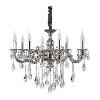 метален полилей, argento antico, ideal lux, impero sp8, 8x40w, 014395