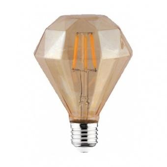 led лампа, топла светлина, horoz, 6w, e27, 2200k, 540lm,rustik diamond-6, 001-034-0006