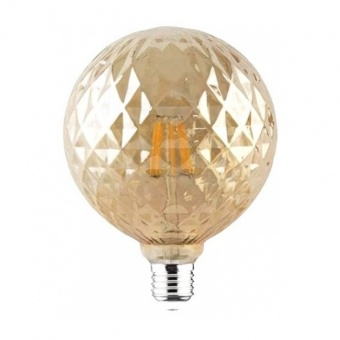 led лампа, топла светлина, horoz, 6w, e27, 2200k, 540lm,rustik twist-6, 001-038-0006