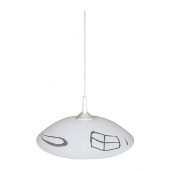 стъклен пендел, бял, siriuslights, виста, 1x60w, 100607