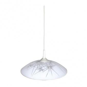 стъклен пендел, бял, siriuslights, искри, 1x60w, 100807