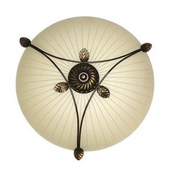 стъклен плафон, екрю, siriuslights, орнаменти, 3x60w, 106047