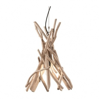дървен пендел, beige, ideal lux, driftwood sp1, 1x60w, 129600