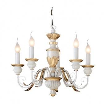 акрилен полилей, bianco, ideal lux, firenze sp5, 5x40w, 012865