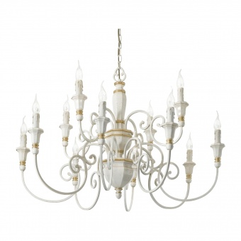 метален полилей, bianco, ideal lux, palio sp12, 12x40w, 093789