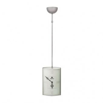 стъклен пендел, бял, siriuslights, часовник, 1x60w, 115961