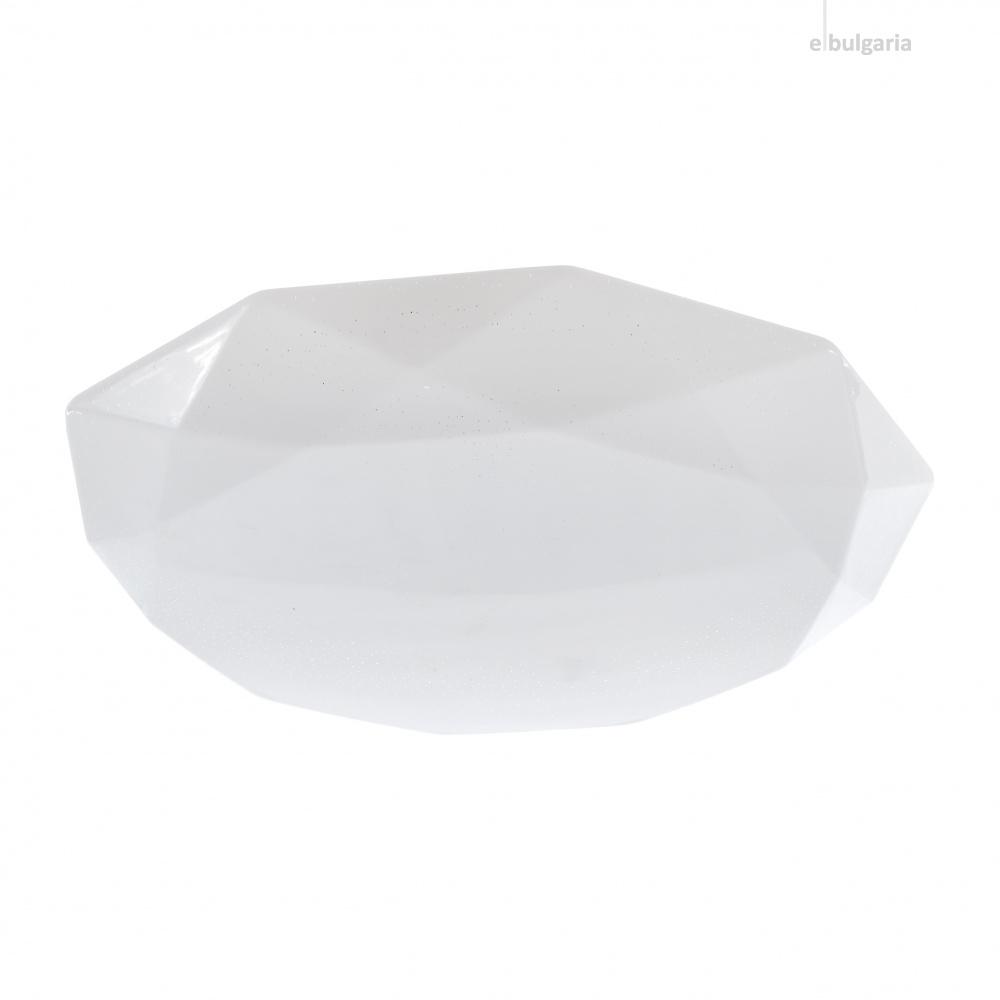 pvc плафон, бял, elbulgaria, led 21w, 3000-4000k, 1441 21w
