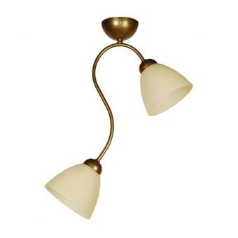 стъклен полилей, старо злато, siriuslights, лили, 2х60w, 238312