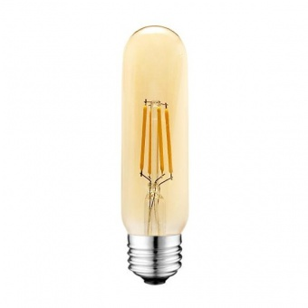 led лампа 4w, e27, топла светлина, 2700k, 360lm, 300°, led lamp filament t10 smoke