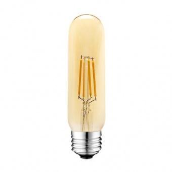led лампа 4w, e27, топла светлина, 2700k, 360lm, 300°, led lamp filament t10 smoke