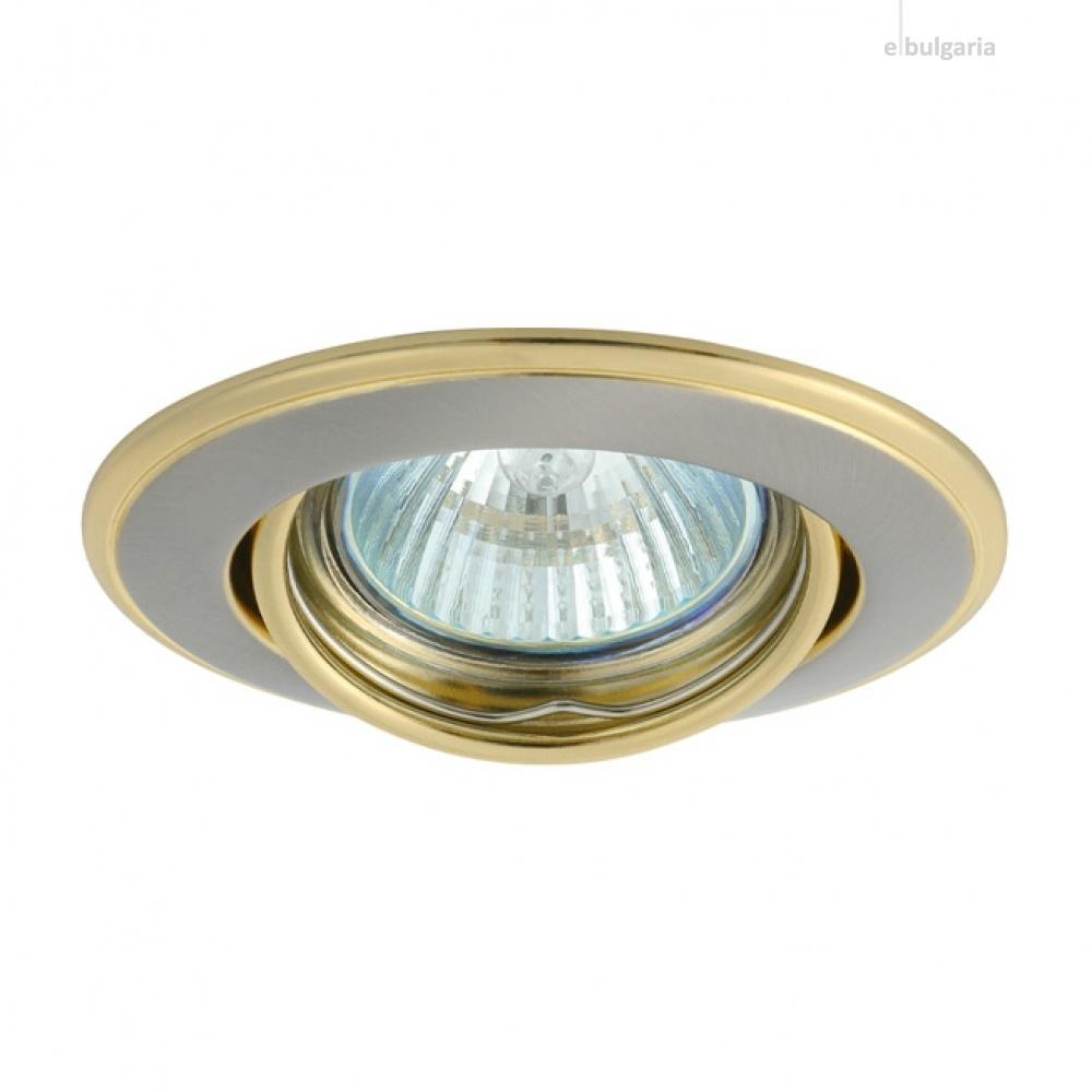 метална луна, satin nickel/gold, kanlux, horn 3115, 1x50w, 02830