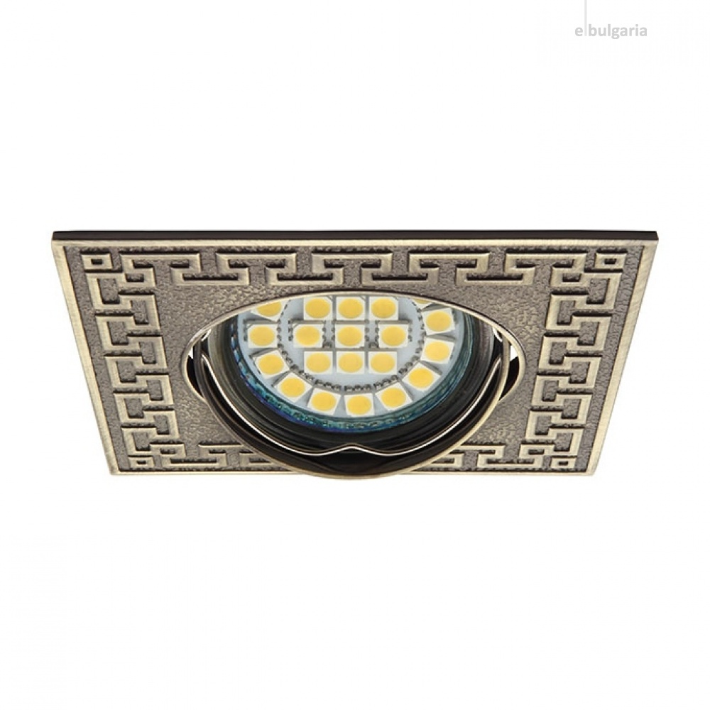 метална луна, patinated brass, kanlux, pelia, 1x50w, 19540