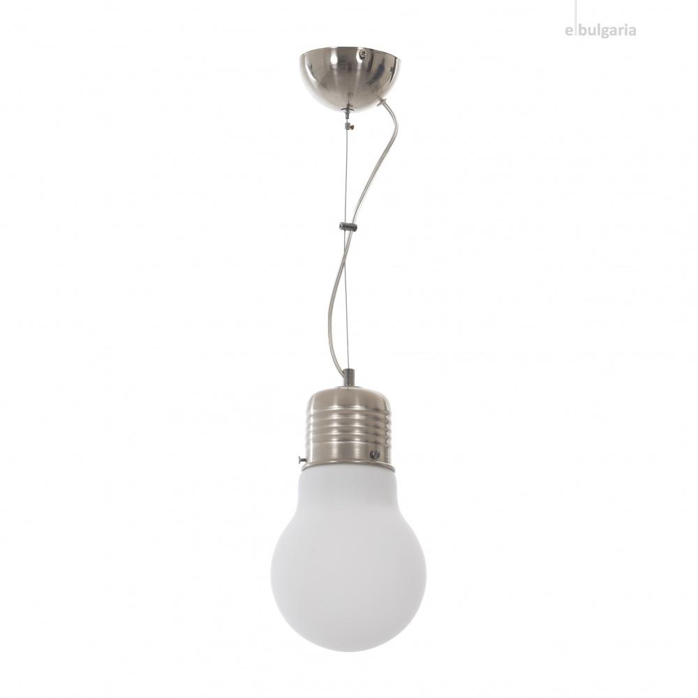 метален пендел, хром, elbulgaria, 1x40w, 1464/1s