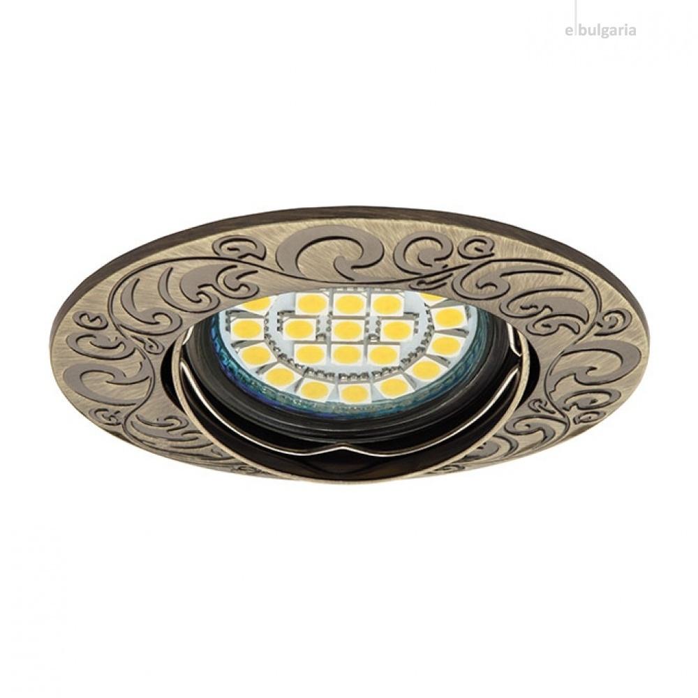 метална луна, patinated brass, kanlux, urtica, 1x50w, 19550