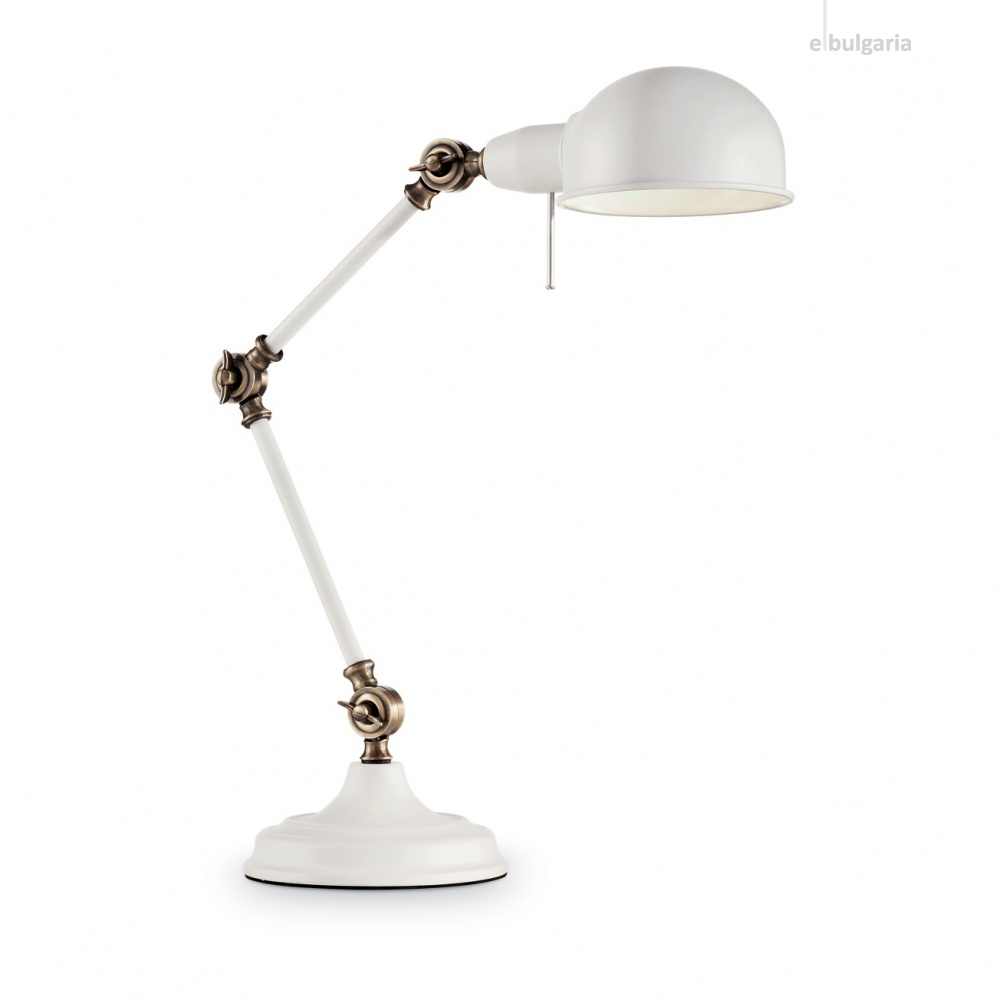 метална работна лампа, bianco, ideal lux, truman tl1, 1x60w, 145198