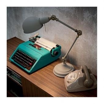 метална работна лампа, grigio, ideal lux, truman tl1, 1x60w, 145204