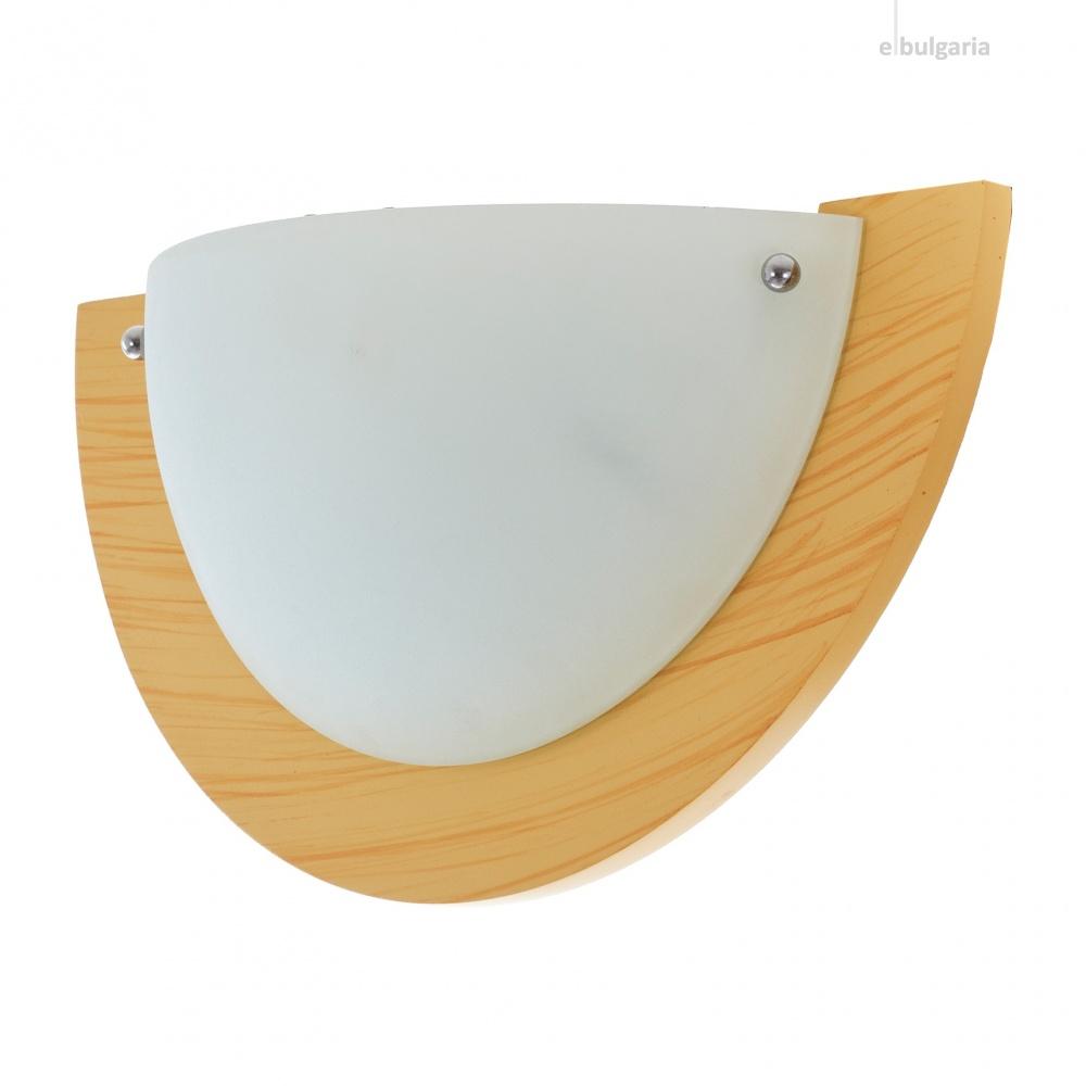 стъклен аплик, крем, elbulgaria, 1x40w, 1507/1w wd