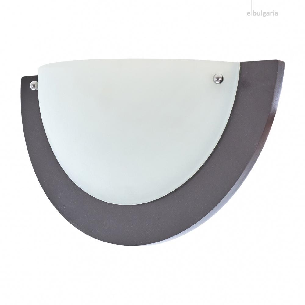 стъклен аплик, венге, elbulgaria, 1x40w, 1507/1w cf