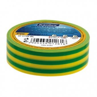 изолирбанд лента, yellow/green, kanlux, it-1/20-y/gn, 20m, 01277