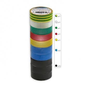 изолирбанд лента, mix colour, kanlux, it-1/20-mix, 20m, 01283