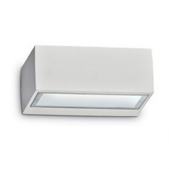 метално градинско тяло, bianco, ideal lux, twin ap1, 1x28w, 115351