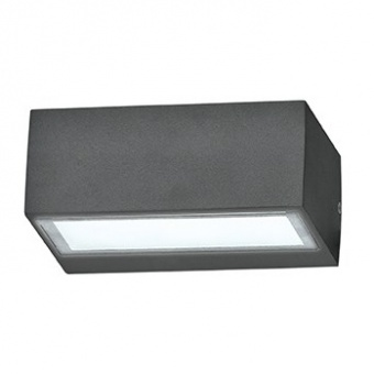 метално градинско тяло, nero, ideal lux, twin ap1, 1x28w, 115375