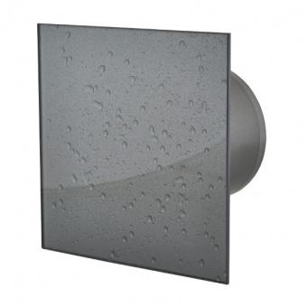 вентилатор за баня, квадрат с клапа, мокър асфалт, mmotors, ф100/169, 169m/h3, 18w, mm-p, 06 стъкло права, 9517