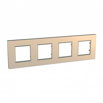 четворна рамка, мед, schneider, unica quadro, mgu6.708.56