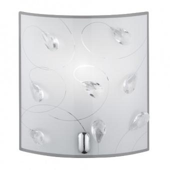 стъклен аплик, glas decorated, trio, carbonada, 1x40w, 202400106