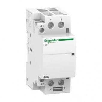 модулен контактор, ict 40a, двуполюсен, 2no, 220v, 50hz, acti 9.schneider, a9c20842