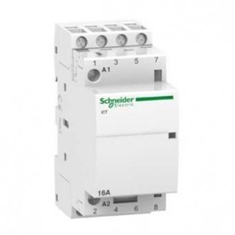 модулен контактор, ict 16a, три полюсен, 3no, 220v, 50hz, acti 9.schneider, a9c22813