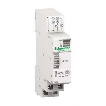 електромеханичен таймер, min, регулируем от 1-7 минути, acti 9, schneider, 15363