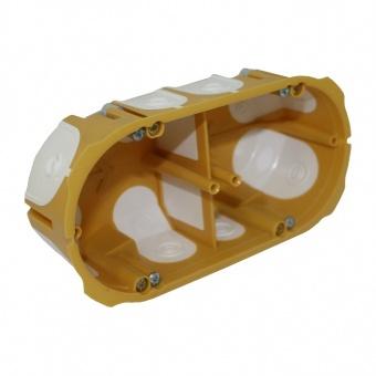 конзола двойна за гипсокартон, еластични отвори, ф68, жълта, kopos kolin, kmpl 64 50/2ld, 62104